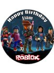 7.5 Personalised Roblox Edible Icing Cake Topper